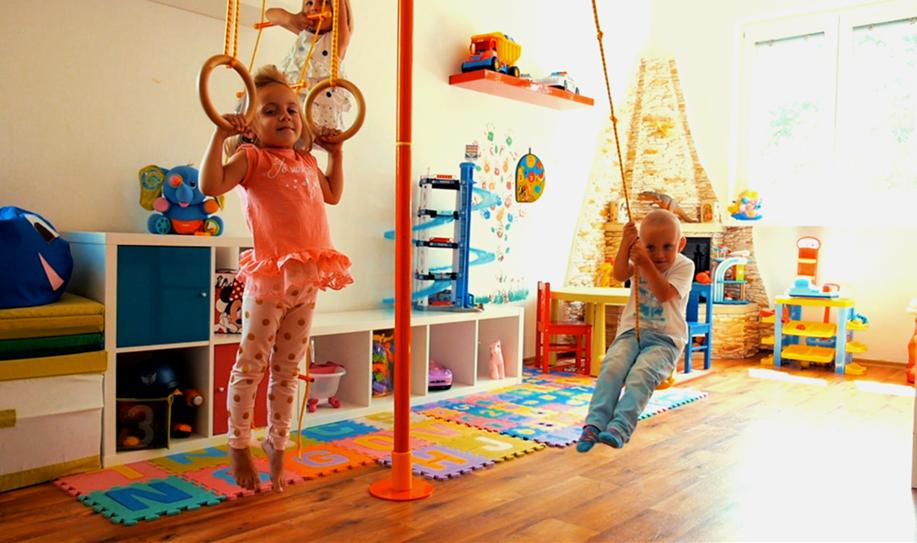 Tělocvična v pokojíčku – nadšení vašich dětí