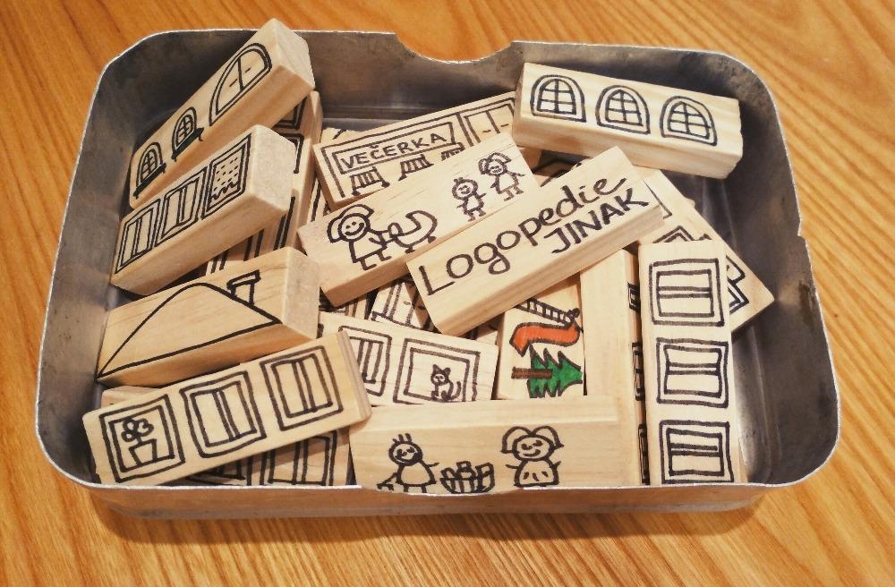 """Dřevěné DIY puzzle """"MĚSTO"""""""