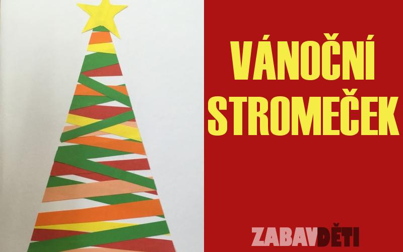 Jednoduchý vánoční stromeček